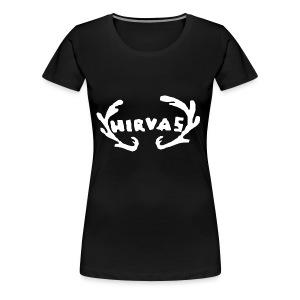 Hirvas vaalea - Naisten premium t-paita