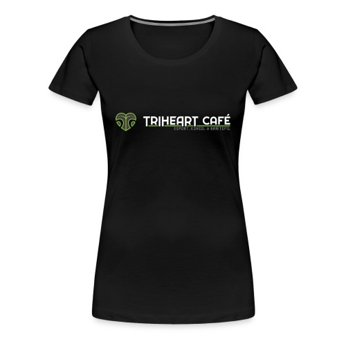 TRIHEART LOGO NEW WHITER - Women's Premium T-Shirt