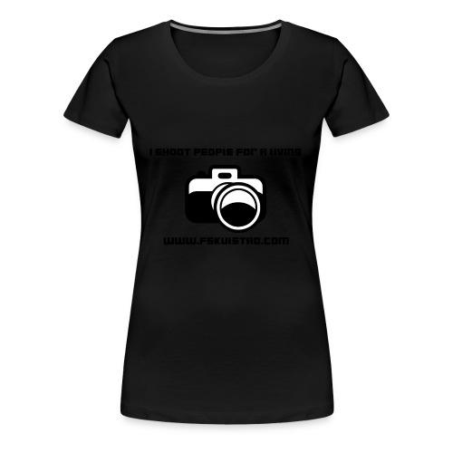 ishootpeopleforaliving_2-png - Premium T-skjorte for kvinner