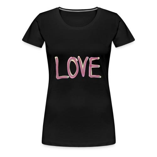 LOVE (watercolor, aquarell) - Frauen Premium T-Shirt