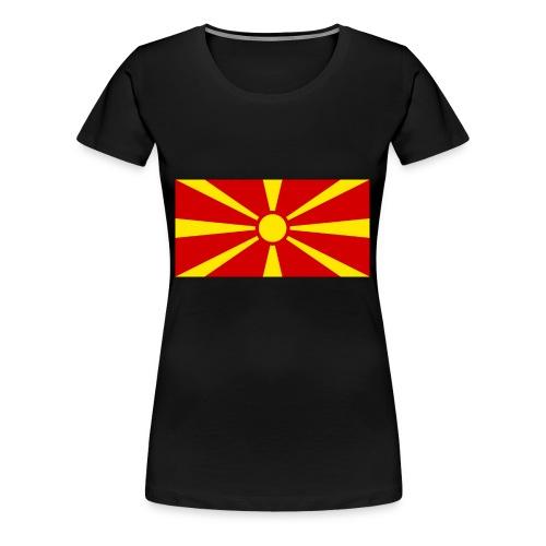Macedonia Flag - Frauen Premium T-Shirt