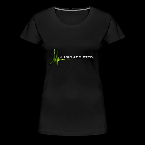 Music addicted - green - Frauen Premium T-Shirt