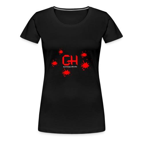 GamingHorde (white letters) - Women's Premium T-Shirt
