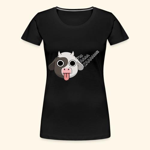 Kuh denkt, er wäre eine Katze - Frauen Premium T-Shirt