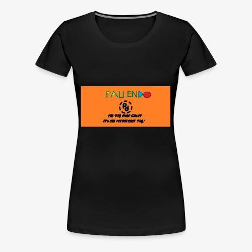Pallendo Logo mit Schrift und Text - Frauen Premium T-Shirt