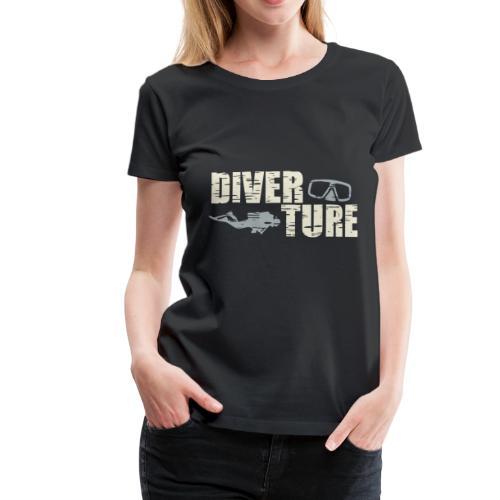 Scuba Diver Vintage - Frauen Premium T-Shirt