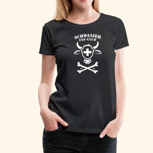 Fussball Schweizer Fan-Club - Frauen Premium T-Shirt