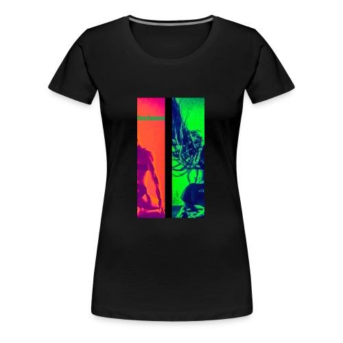 Pop-Art Double Flash Color twist New Neon - Frauen Premium T-Shirt
