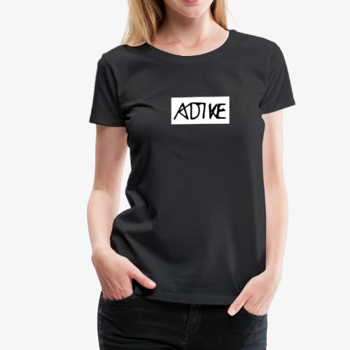 Adike Box Logo (White) - Frauen Premium T-Shirt