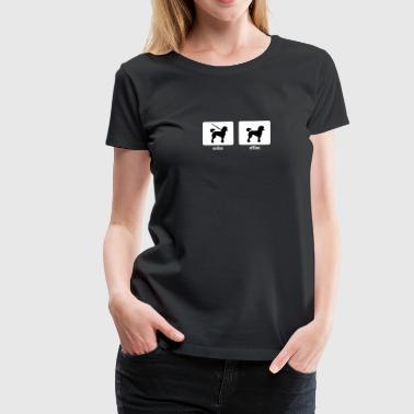 Villakoira - online / offline - Naisten premium t-paita