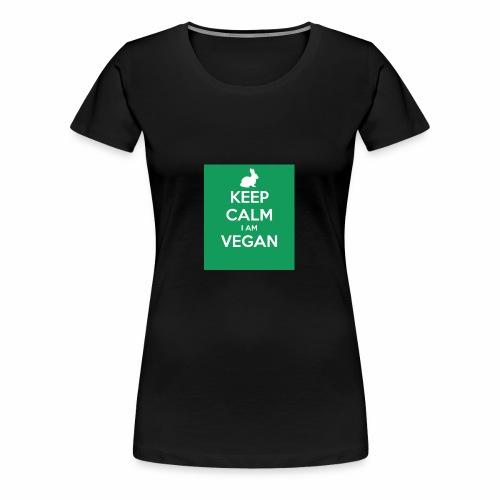 keep calm i am vegan 3 - T-shirt Premium Femme