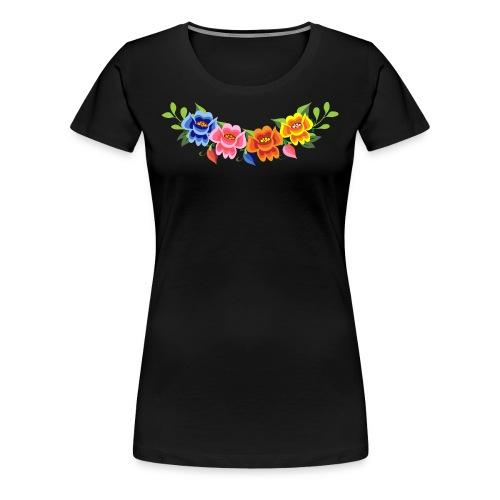 Flores Mexicanas - Camiseta premium mujer