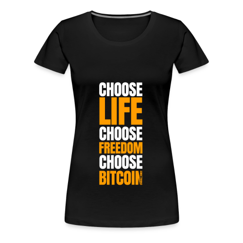 crypto bitcoin cryptocurrency cryptomonnaie - T-shirt Premium Femme