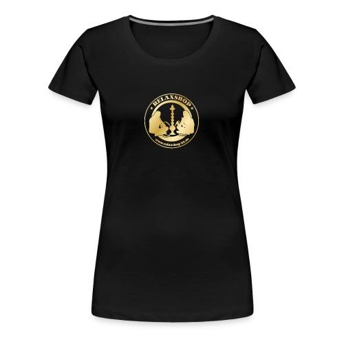 Relaxshop Logo gold weiss! - Frauen Premium T-Shirt