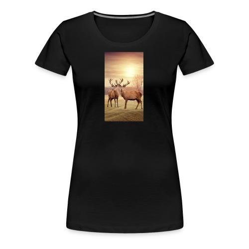 Hirschwiese - Frauen Premium T-Shirt