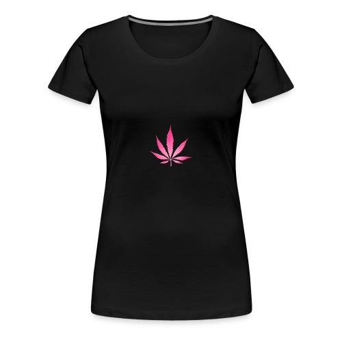Leaf Pink - Frauen Premium T-Shirt