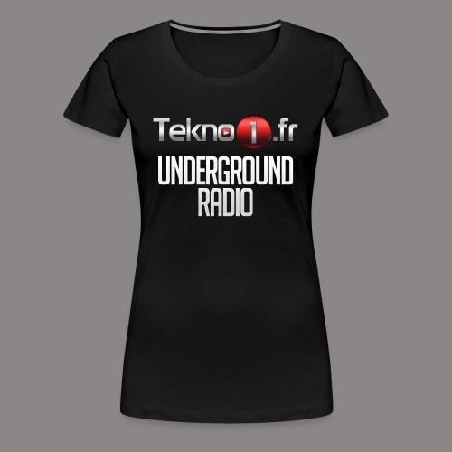 logo tekno1 2000x2000 - T-shirt Premium Femme