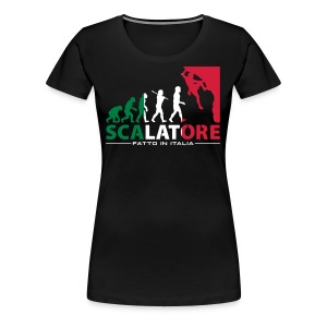 ROCK CLIMBING EVOLUTION SCALATORE FATTO IN ITALIA - Women's Premium T-Shirt