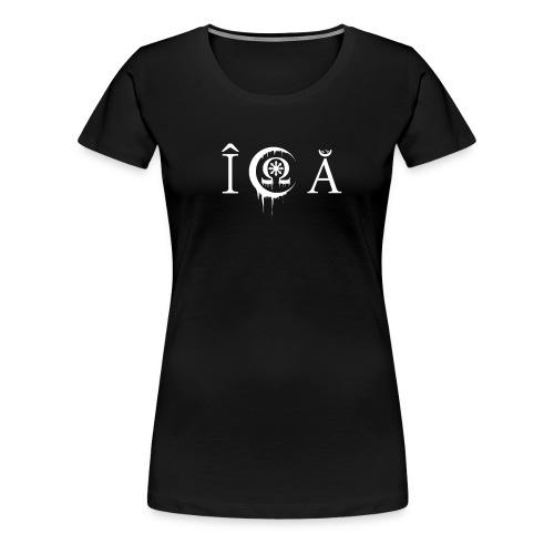 In crucem Agere alternativ Logo - Frauen Premium T-Shirt