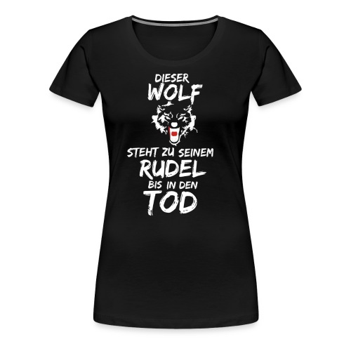 Wolf T Shirt Hoodie Sweatshirt Pullover - Frauen Premium T-Shirt