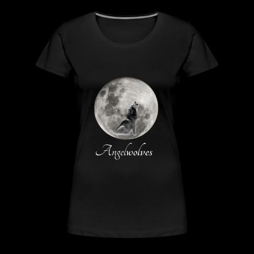 Heulender Wolf vor Mond Angelwolves - Frauen Premium T-Shirt