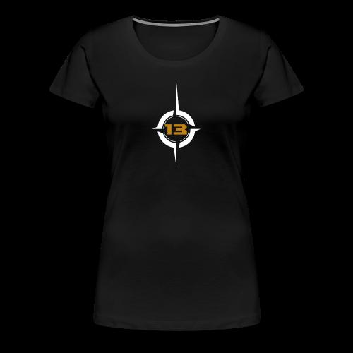 KV13-Logo white - Frauen Premium T-Shirt