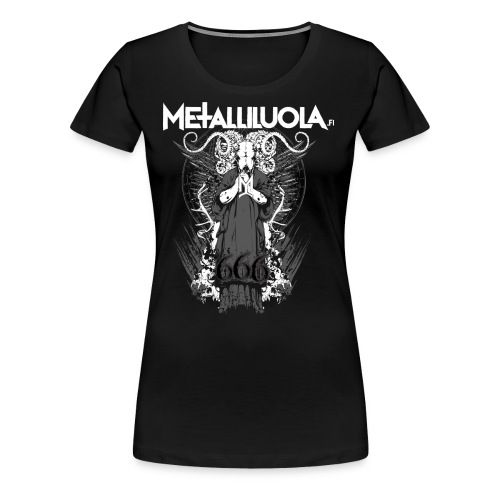 Metalliluola logo ja Demoniac 666 - Naisten premium t-paita