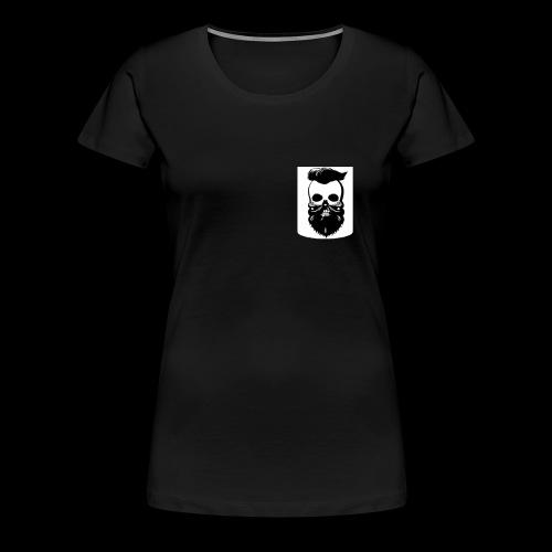 Bart Totenkopf Tattoo Motorrad Biker Pocket Design - Frauen Premium T-Shirt