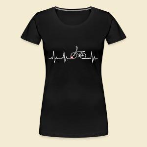 Radball | Heart Monitor White - Frauen Premium T-Shirt