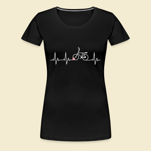 Radball | Heart Monitor White - Frauen Premium T-Shirt