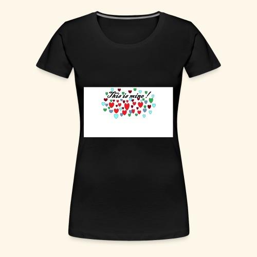 Hearts Hjerter - Premium T-skjorte for kvinner