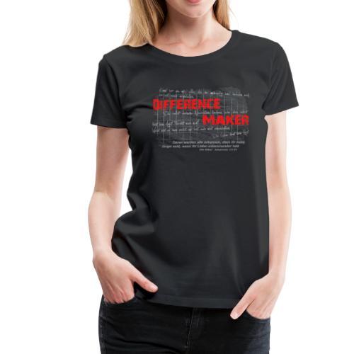 Difference Maker hell - Frauen Premium T-Shirt