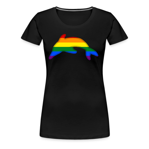 Gay / Rainbow Dolphin - Women's Premium T-Shirt
