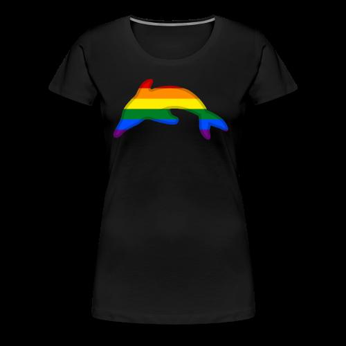 Gay / Rainbow Dolphin - Women's Premium T-Shirt