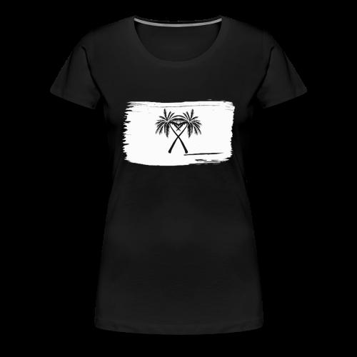 PalmX White paint - Premium-T-shirt dam