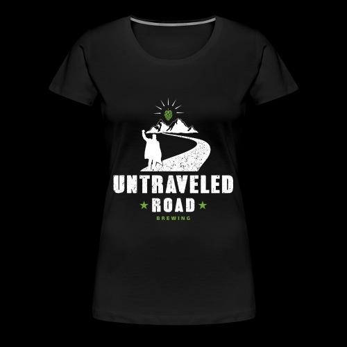 Untraveled Road Logo - weiß - Frauen Premium T-Shirt