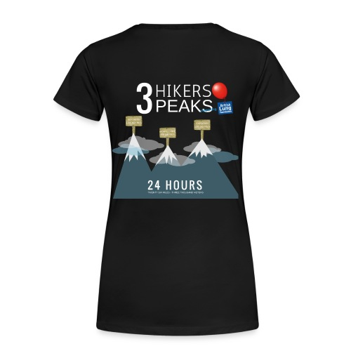 3 Hikers 3 Peaks - Women's Premium T-Shirt