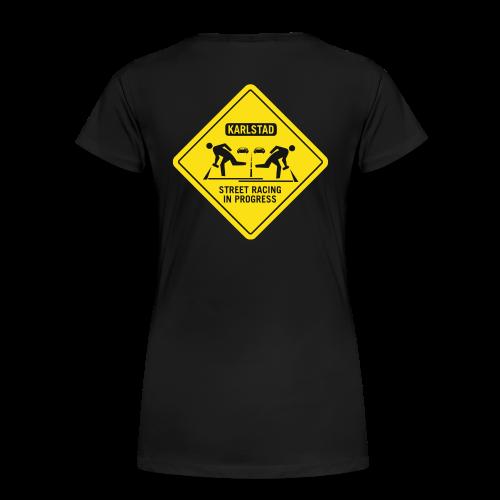 karlstad streetrace - Premium-T-shirt dam