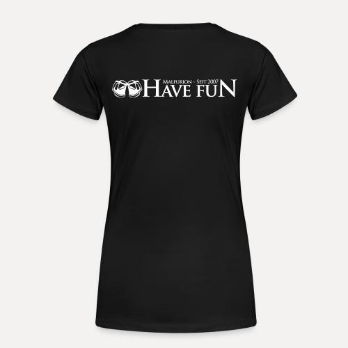 Logo Have Fun Malfurion - Frauen Premium T-Shirt