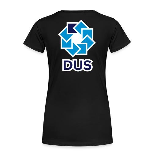Kotlin User Group Düsseldorf - White Border - Frauen Premium T-Shirt