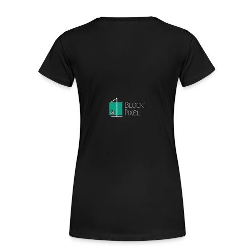 1BlockPixel Schrift Weiß - Frauen Premium T-Shirt