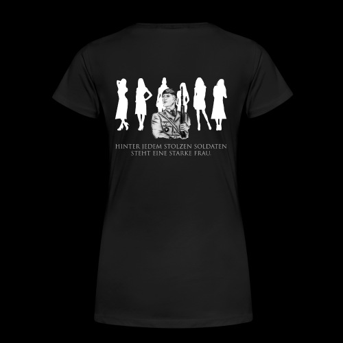 Stolzer Soldat - starke Frau, schwarze Kollektion - Frauen Premium T-Shirt