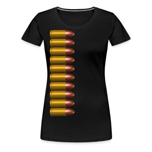 Damen Top Shirt mit 9mm Patrone - Frauen Premium T-Shirt