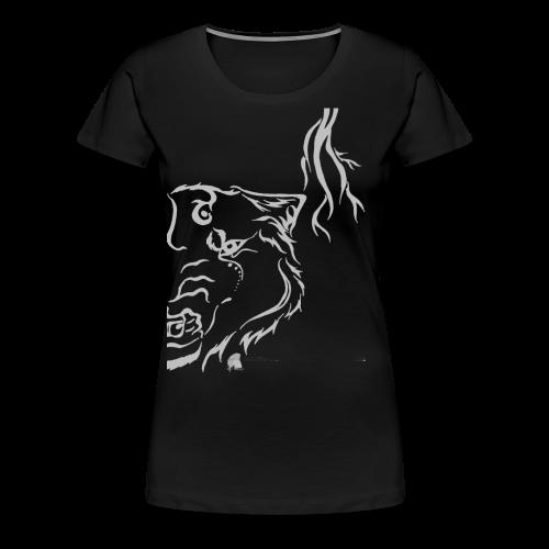 Silver Thunder Wolf Tribal - Frauen Premium T-Shirt