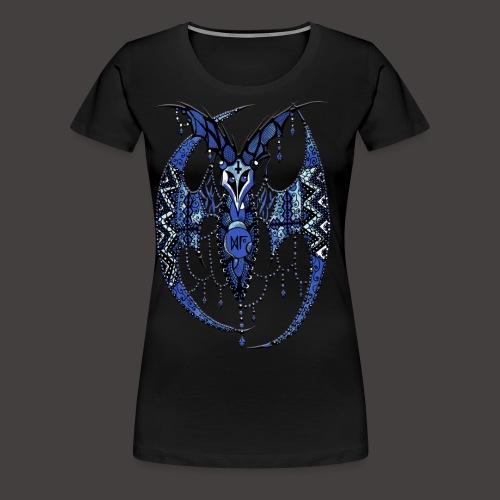 Chauve Souris Dentelle Bleue - T-shirt Premium Femme