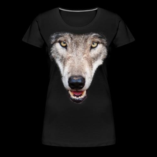 grey wolf transparent - Women's Premium T-Shirt