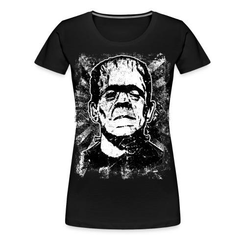Boris Karloff/Frankenstein vintage sw - Frauen Premium T-Shirt