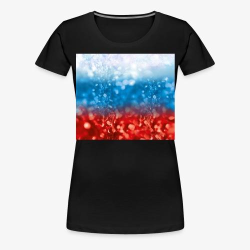 05 Russland Flagge Fahne Glitzer Russia - Frauen Premium T-Shirt