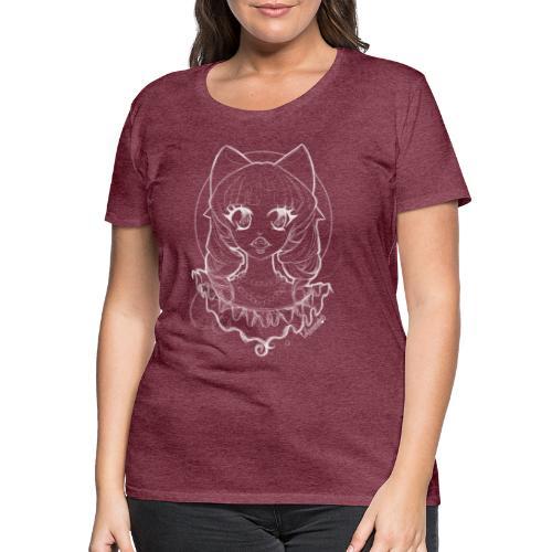 Vampier Lena (witte schets) - Women's Premium T-Shirt