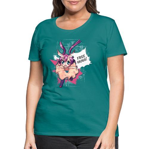 Free hugs (white lines) - Women's Premium T-Shirt